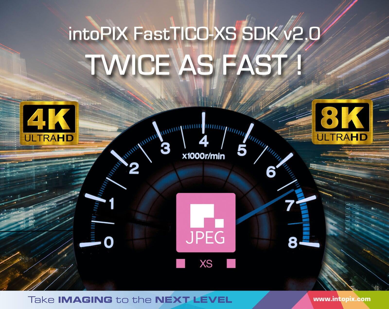 intoPIX Ships v2.0 of FastTICO-XS SDK for x86-64 CPU platforms