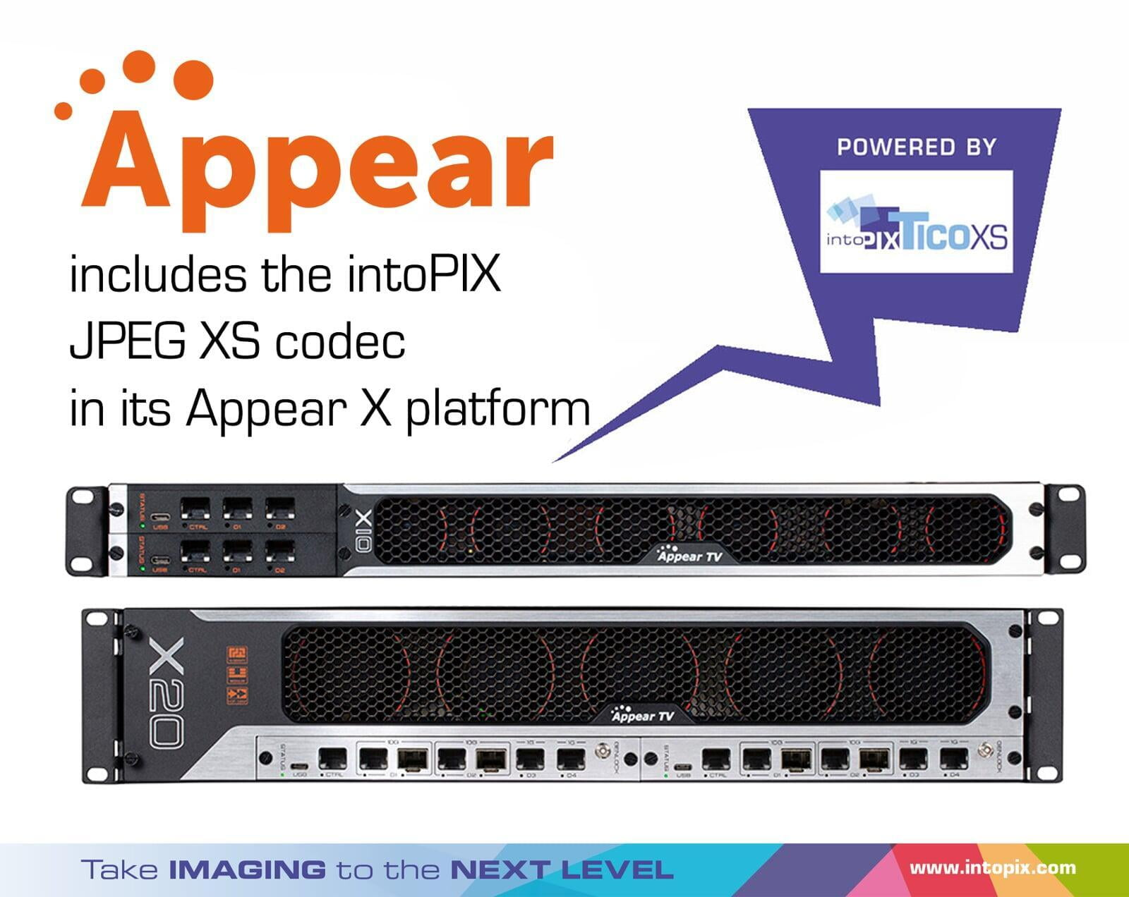 Appear TV introduces Zero-latency intoPIX JPEG XS technology in the X Platform