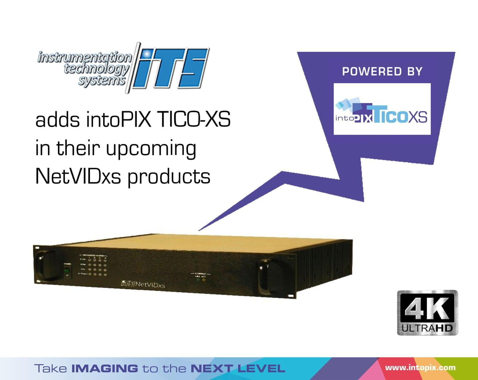 Instrumentation Technology Systems adds intoPIX TICO-XS to their upcoming NetVIDxs