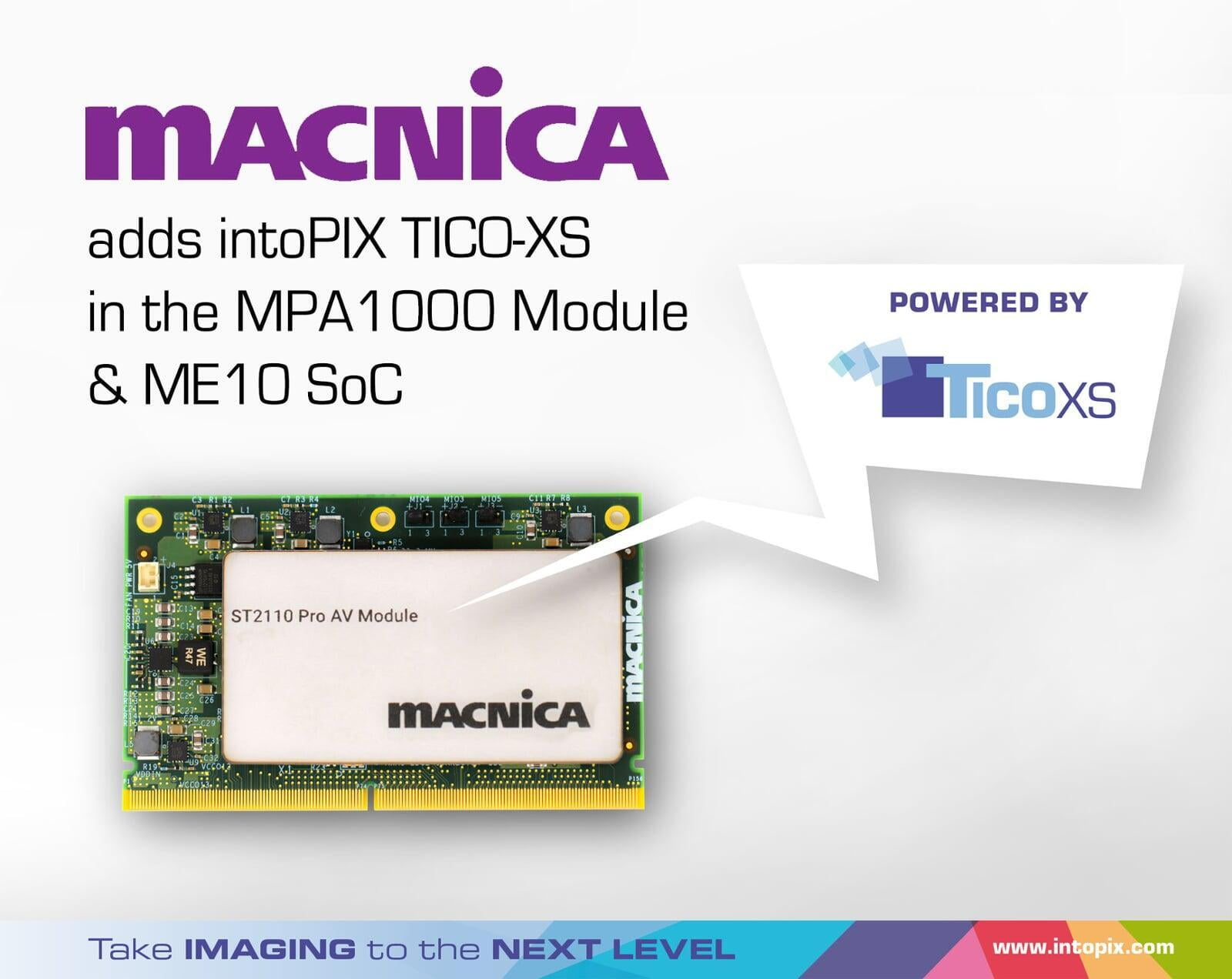 Macnica adopts intoPIX TICO-XS for its 4K ProAV OEM solutions